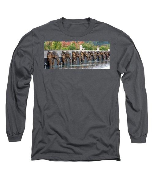 Elephants Of The Mandir Long Sleeve T-Shirt