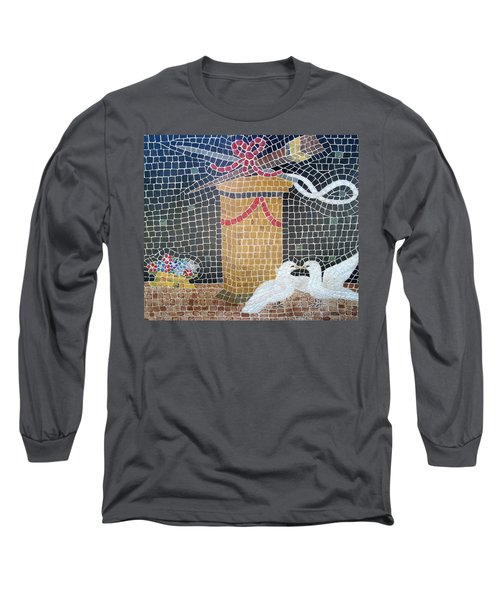 Long Sleeve T-Shirt featuring the painting Emblems Of Love by Cynthia Amaral