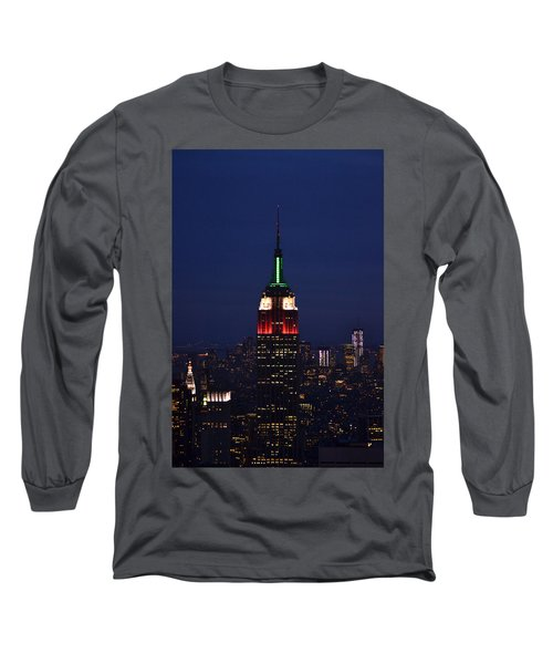 Long Sleeve T-Shirt featuring the photograph Empire State Building1 by Zawhaus Photography