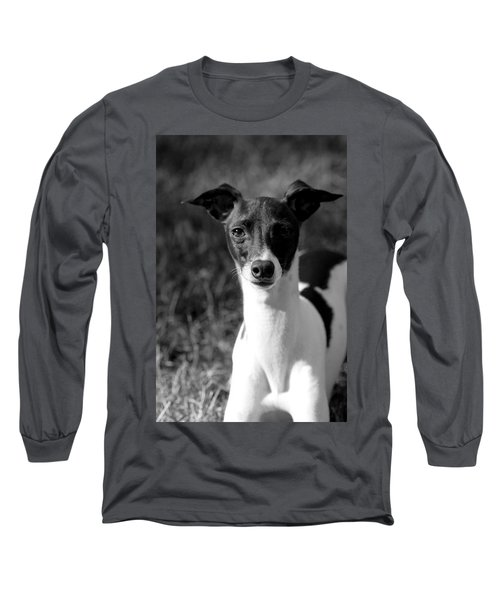 Ethan In Black And White Long Sleeve T-Shirt