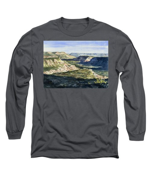 Evening Flight Over Palo Duro Canyon Long Sleeve T-Shirt