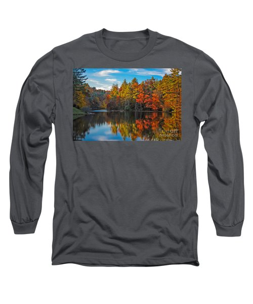 Fall Reflection Long Sleeve T-Shirt by Ronald Lutz