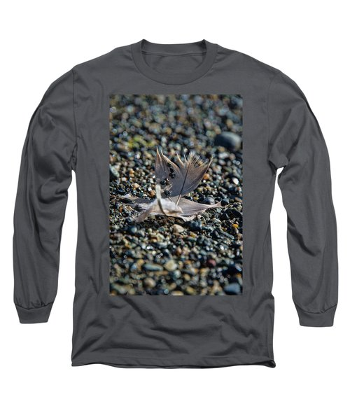 Long Sleeve T-Shirt featuring the photograph White Feather by Marilyn Wilson