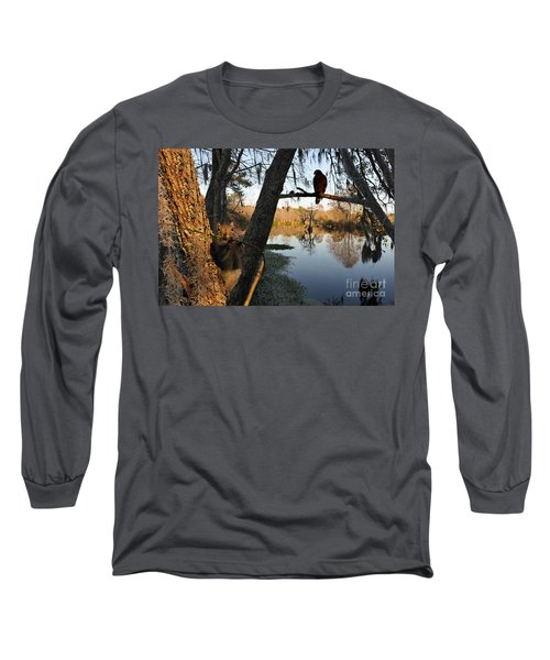 Long Sleeve T-Shirt featuring the photograph Feel Like Being Watched by Dan Friend