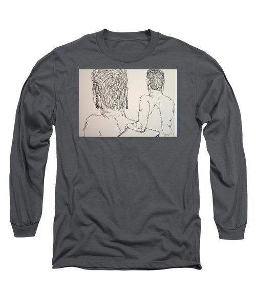 Female Nude Beside Herself Long Sleeve T-Shirt