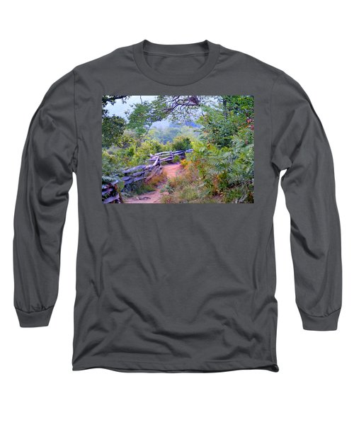 Fence To The Blueberries Filtered Long Sleeve T-Shirt