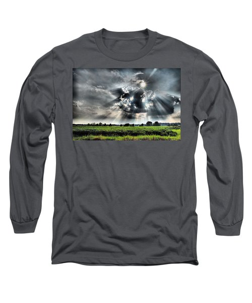 Field Of Beams Long Sleeve T-Shirt