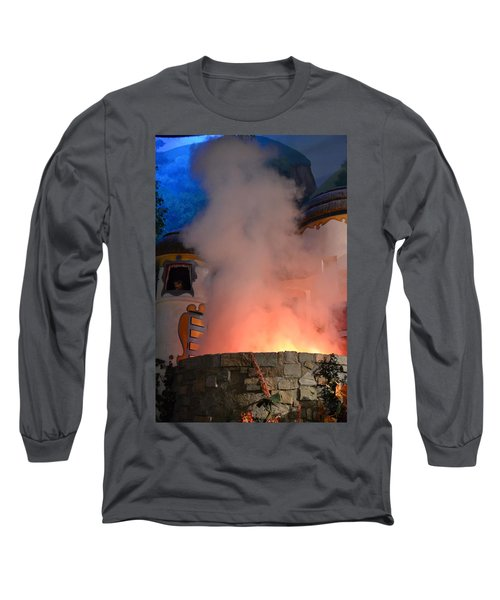 Fiery Entrance Long Sleeve T-Shirt by Bonnie Myszka