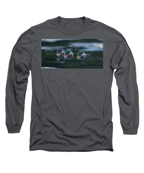 Long Sleeve T-Shirt featuring the photograph Floating Bubbles by Cathie Douglas