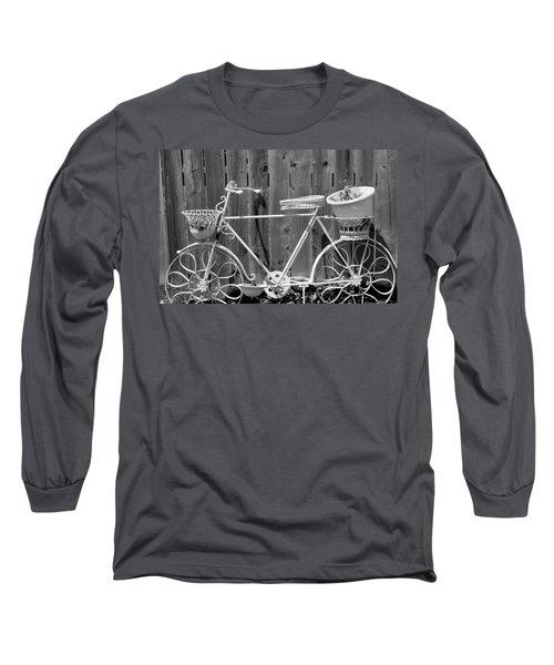 Flower Bike Long Sleeve T-Shirt by Lisa Brandel