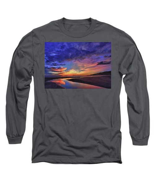 Flowing Out To The Ocean Long Sleeve T-Shirt