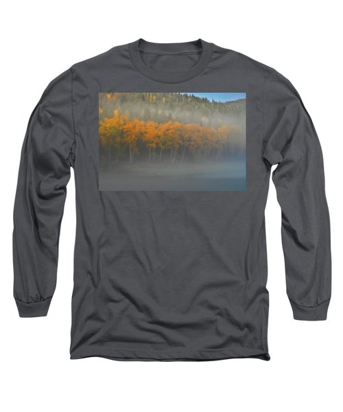 Long Sleeve T-Shirt featuring the photograph Foggy Autumn Morning by Albert Seger