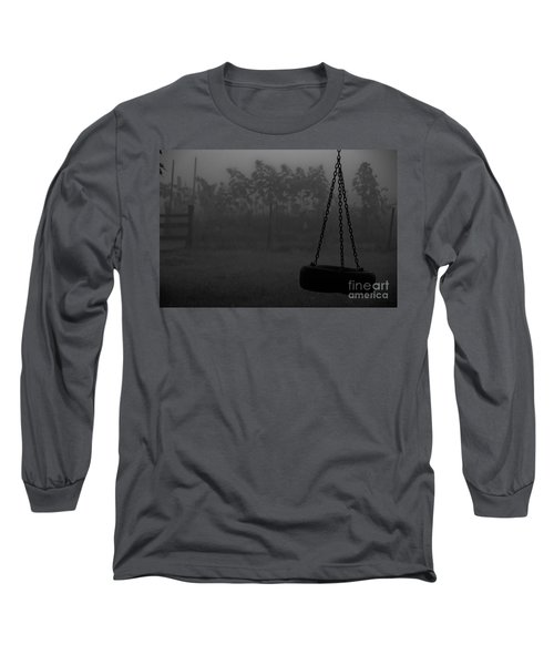 Long Sleeve T-Shirt featuring the photograph Foggy Playground by Cheryl Baxter
