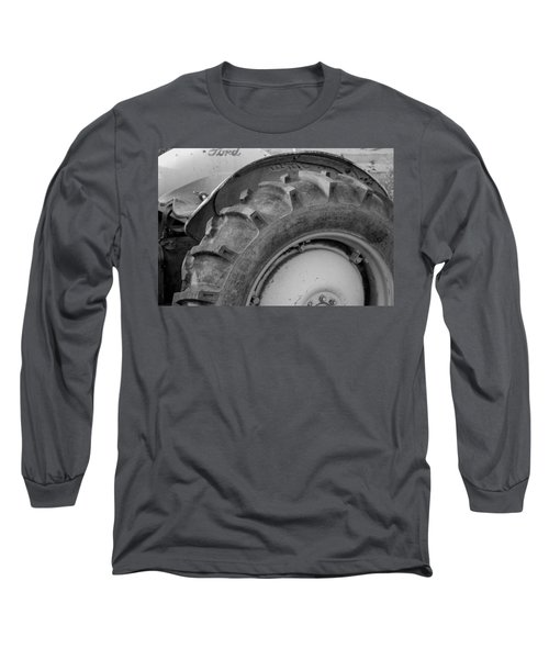 Long Sleeve T-Shirt featuring the photograph Ford Tractor In Black And White by Jennifer Ancker