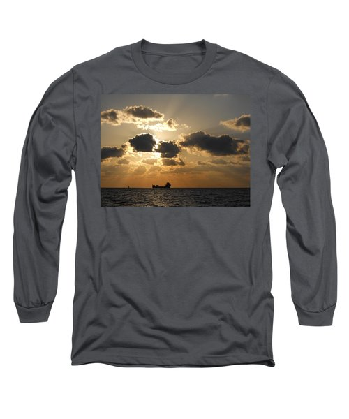 Long Sleeve T-Shirt featuring the photograph Fort Lauderdale Sunrise by Clara Sue Beym