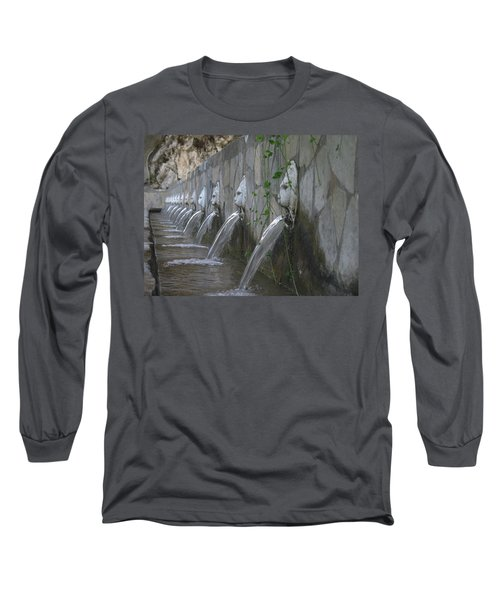 Long Sleeve T-Shirt featuring the photograph Fountain by David Gleeson