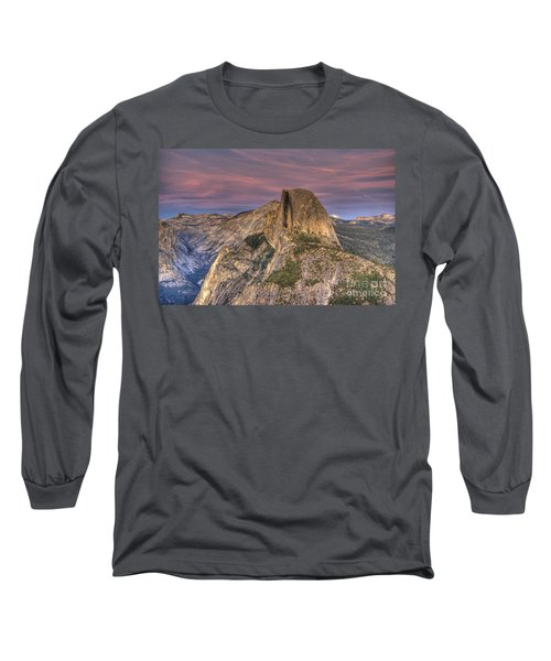 Full Moon Rise Behind Half Dome Long Sleeve T-Shirt by Jim And Emily Bush