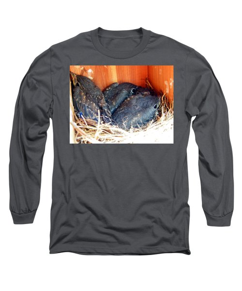Getting Crowded Long Sleeve T-Shirt by Judy Wanamaker