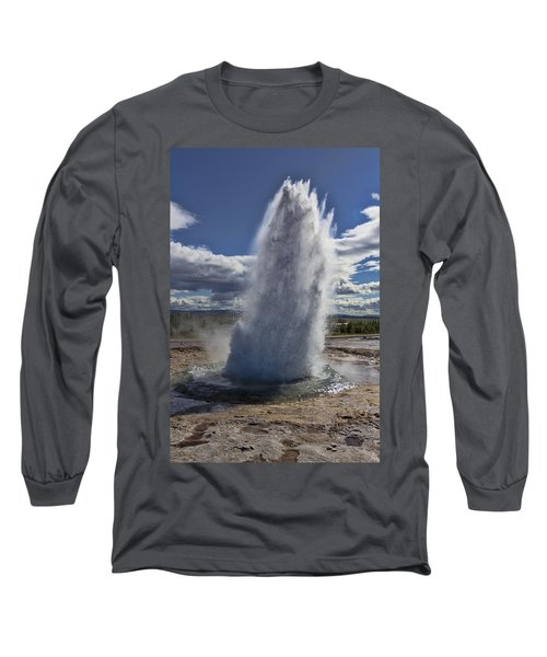 Long Sleeve T-Shirt featuring the photograph Geysir 3 by David Gleeson
