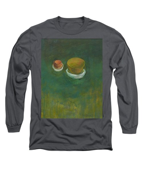 Long Sleeve T-Shirt featuring the painting Ginger Pot by Kathleen Grace