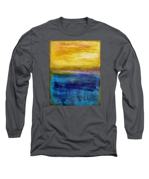 Gold And Pink Sunset Ll Long Sleeve T-Shirt