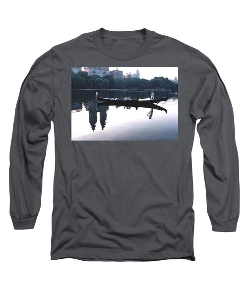 Gondola On The Central Park Lake Long Sleeve T-Shirt