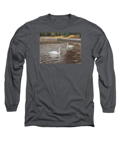 Graceful Swimmers Long Sleeve T-Shirt by Alan Mager