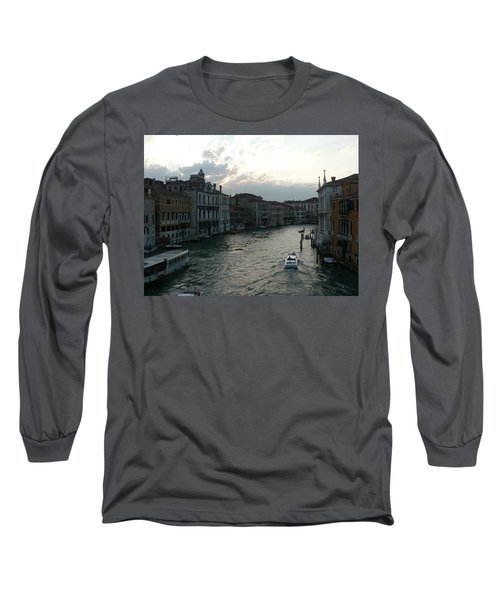 Long Sleeve T-Shirt featuring the photograph Grand Canal At Dusk by Laurel Best