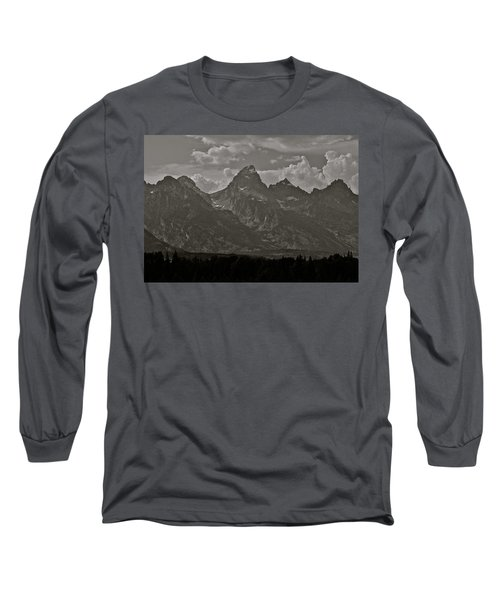 Long Sleeve T-Shirt featuring the photograph Grand Tetons by Eric Tressler