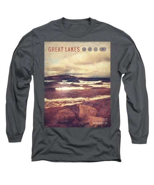 Long Sleeve T-Shirt featuring the photograph Great Lakes by Phil Perkins