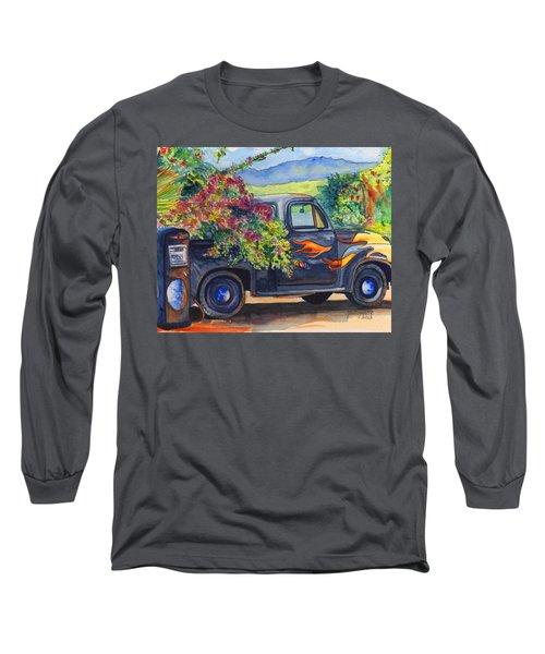 Hanapepe Truck Long Sleeve T-Shirt by Marionette Taboniar