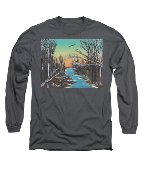 Long Sleeve T-Shirt featuring the painting Happy Day by Alys Caviness-Gober