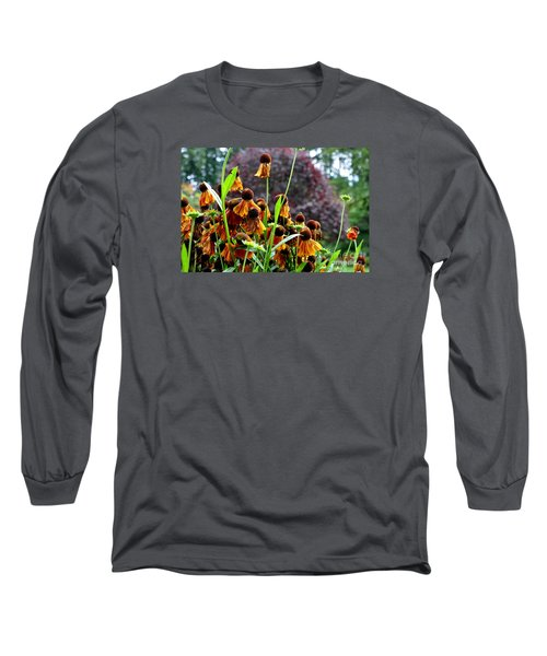 Long Sleeve T-Shirt featuring the photograph Helenium Sneezeweed  by Tanya  Searcy