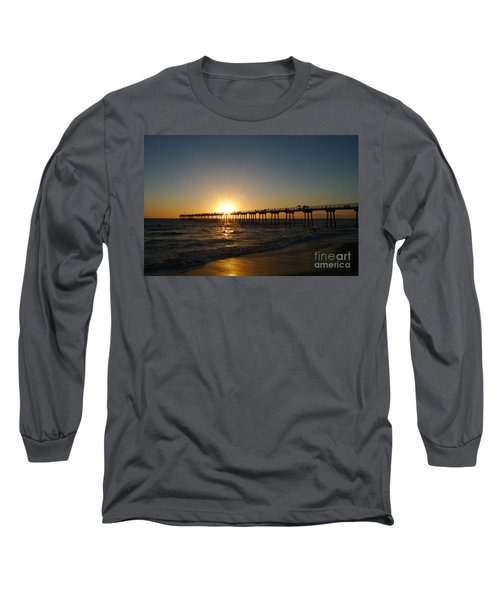 Hermosa Beach Sunset Long Sleeve T-Shirt