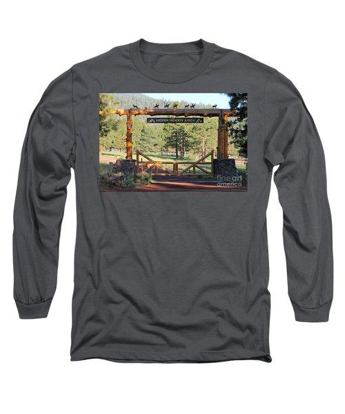 Hidden Meadow Ranch Long Sleeve T-Shirt by Pamela Walrath
