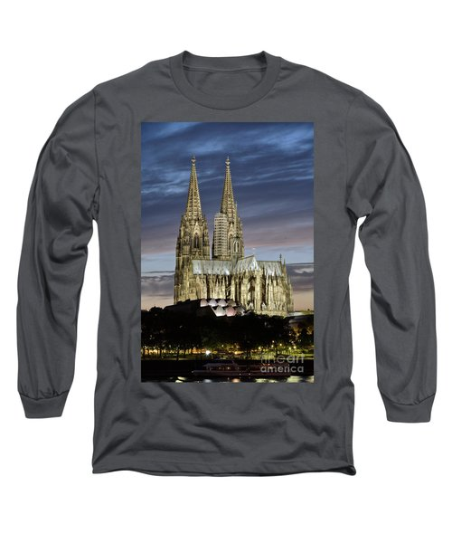 High Cathedral Of Sts. Peter And Mary In Cologne Long Sleeve T-Shirt