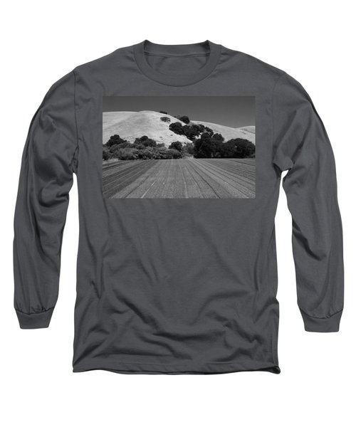 Long Sleeve T-Shirt featuring the photograph Hillside Farmland by Kathleen Grace