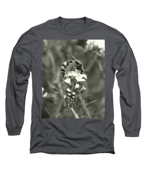 Hunter Wasp On Heliotrope Long Sleeve T-Shirt