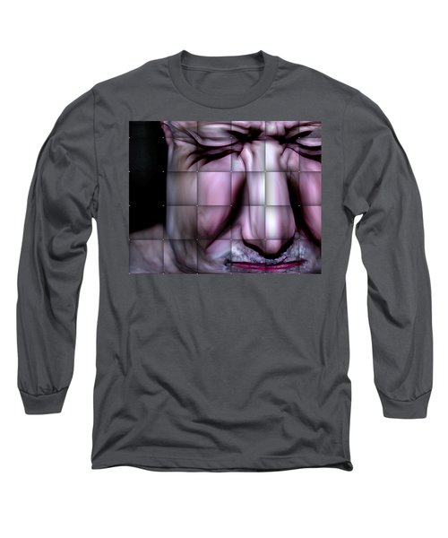 Long Sleeve T-Shirt featuring the mixed media In The Moment by Terence Morrissey