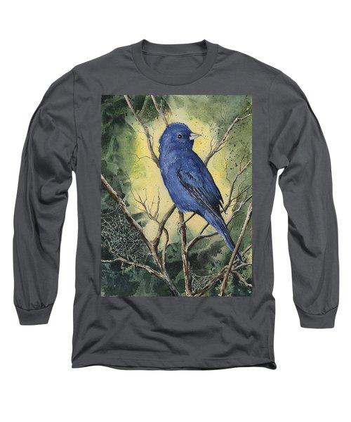 Indigo Bunting Long Sleeve T-Shirt
