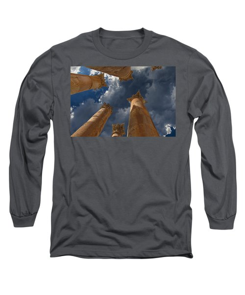 Long Sleeve T-Shirt featuring the photograph Jerash by David Gleeson