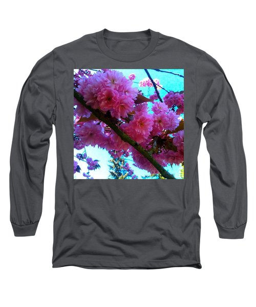 Laden Pink Flowering Dogwood Long Sleeve T-Shirt