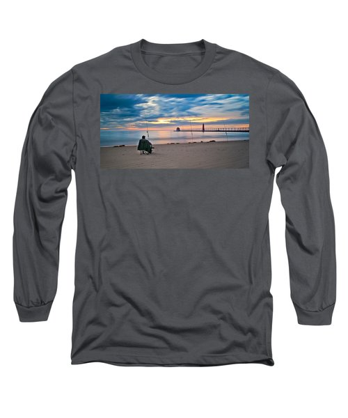 Lake Michigan Fishing Long Sleeve T-Shirt
