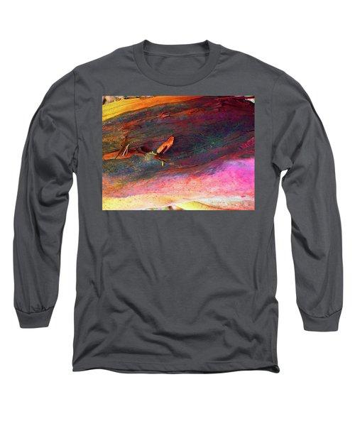 Long Sleeve T-Shirt featuring the digital art Landing by Richard Laeton