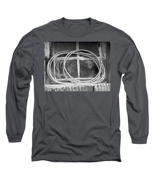 Long Sleeve T-Shirt featuring the photograph Lasso In The Window  by Deniece Platt