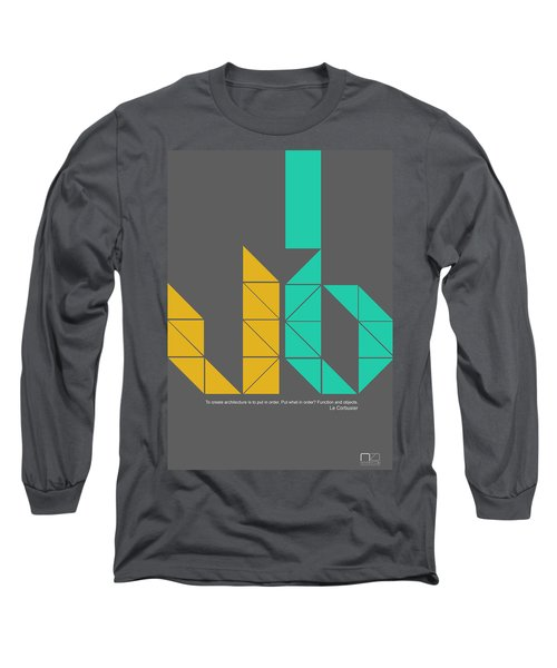 Le Corbusier Quote Poster Long Sleeve T-Shirt