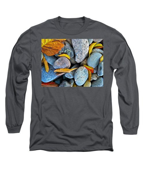 Leaves And Rocks Long Sleeve T-Shirt by Bill Owen
