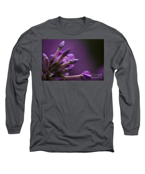 Long Sleeve T-Shirt featuring the photograph Lilac Spirals. by Clare Bambers