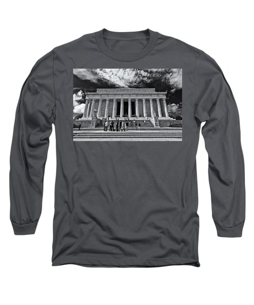 Lincoln Memorial In Black And White Long Sleeve T-Shirt