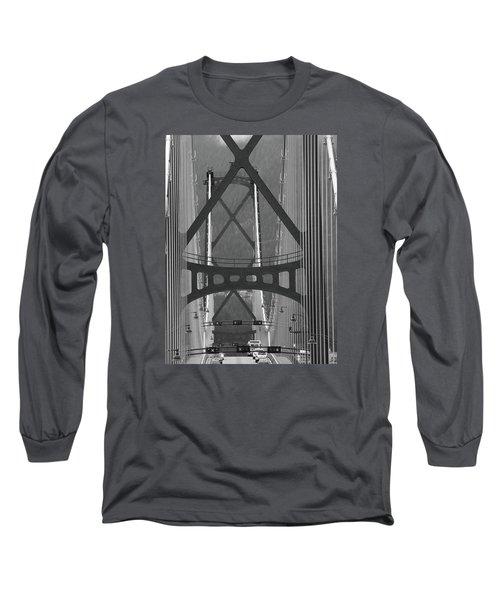 Long Sleeve T-Shirt featuring the photograph Lions Gate Bridge by John Schneider